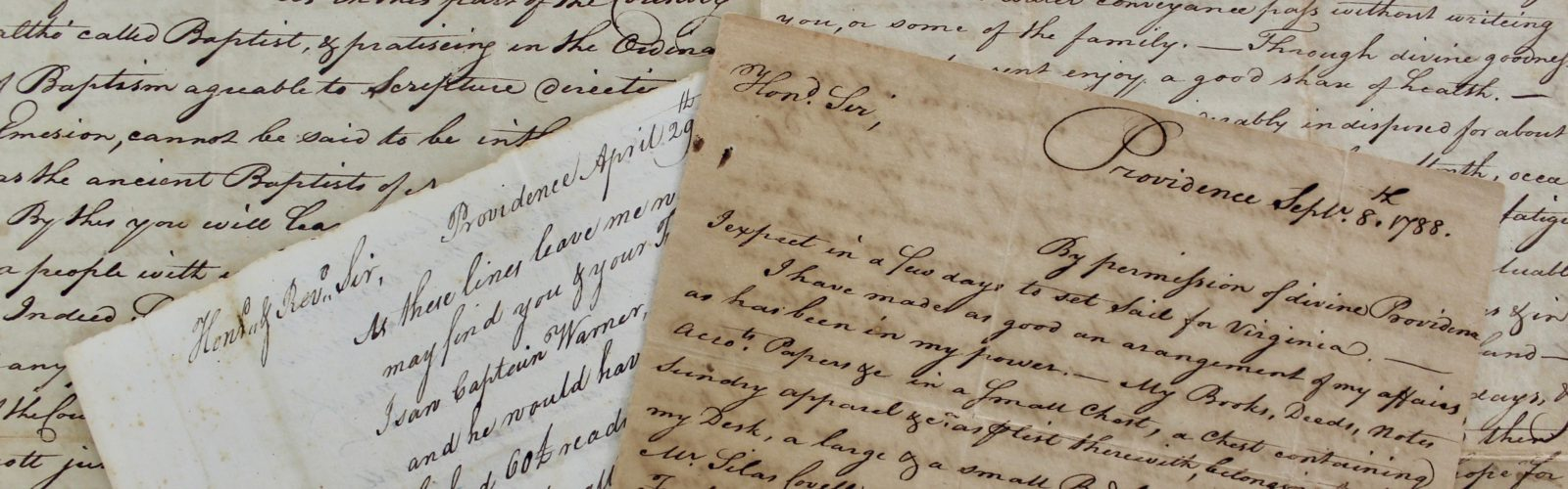 18th Century letters related to the constitution